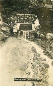 C-1910 Vermont Big Springs Smugglers Notch RPPC Photo Postcard 21-7348