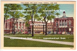 High School & Court House, Hornell NY