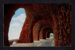 OR Vintage Mitchell's Point Tunnel Columbia River Hwy Oregon Postcard PC