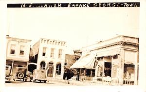 George IA Saunders Store~Cronley Washers~Coca-Cola Fountain Service~RPPC c1939