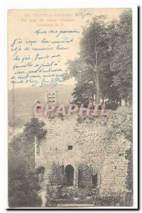 Chateau Thierry Old Postcard A corner of the old castle (precursor map)