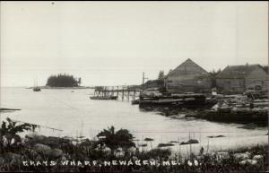 Newagen ME Grays Wharf c1950s-60s Real Photo Postcard
