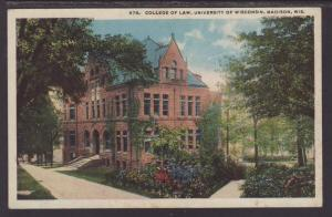 College of Law,University Wisconsin,Madison,WI Postcard