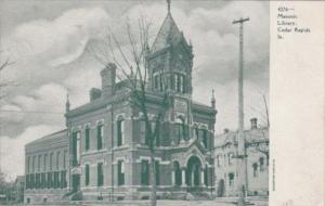 Iowa Cedar Rapids The Masonic Library 1907