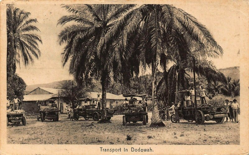 Ghana - Gold Coast Transport in Dodowah 1929 postcard