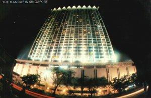Vintage Postcard 1974 The Mandarin Oriental Luxury Hotel Marina Centre Singapore