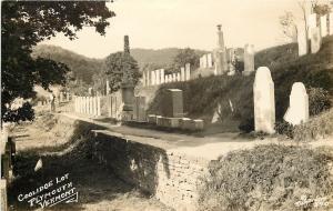 Plymouth Notch Vermont~Pres Calvin Coolidge Cemetery Plots~RPPC c1939