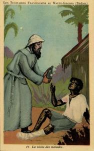 brazil, MATTO GROSSO, The Tertiary Franciscans Mission, Visiting the Sick 1930s
