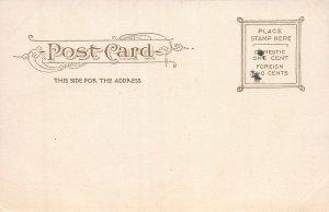 High School, Stamford, Connecticut, 1906 Postcard, Unused