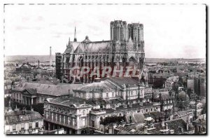 CPM Reims Panorama Taken From I & # 39Eglise Saint Jacques