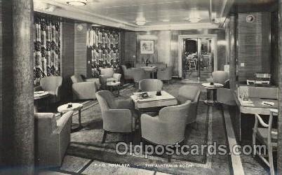 P.&O. Himalaya, the australia room Ship Ships, Interiors, Postcard Postcards ...