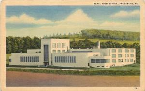 Frostburg MD~Art Deco Architectural Beall High School~Before Forest on Hills
