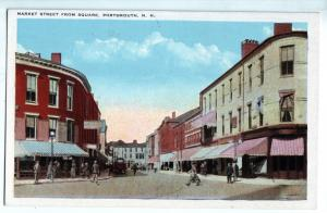 P1010 old card street scene from square portmouth new hampshire