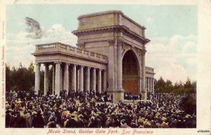 MUSIC BAND STAND GOLDEN GATE PARK SAN FRANCISCO CA 1907