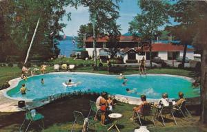 Swimming Pool,  Lac Quimet Resort,  St. Jovite,  Quebec,  Canada,  40-60s