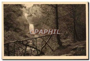Old Postcard The Region Of Limousin The Waterfall Gimel