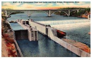 Minnesota  Minneapolis Ford Bridge Dam and Locks