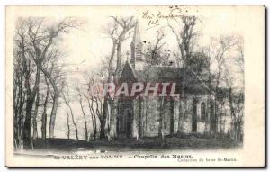 Old Postcard Saint Valery sur Somme Chapelle des Marins