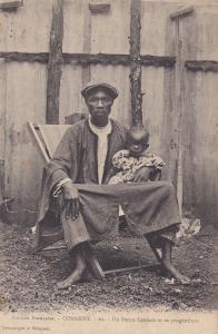 Man & His Baby, Un Sierra Leonais Et Sa Progeniture, CONAKRY, Guinea, 1900-1910s