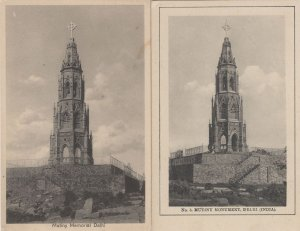 Mutiny Memorial Delhi 2x Antique Rare Indian Delhi Postcard s