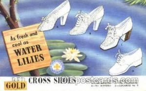 Red Cross Shoes Advertising Unused