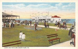 Virginia Va Postcard NORFOLK Hampton Roads c'10 OCEAN VIEW RESORT Lawn Pavilion6