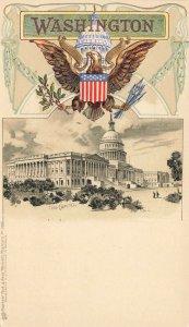 Washington DC The Capitol Embossed Raphael Tuck Postcard