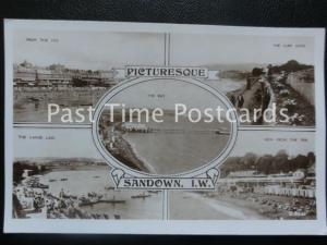 Old RP Picturesque SANDOWN, I.O.W. Multiview - ALL IMAGES SHOWN