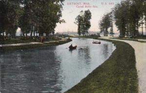Michigan Detroit Canal Scene Belle Isle 1908