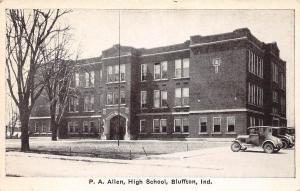C85/ Bluffton Indiana In Postcard c1910 P.A. Allen High School Building
