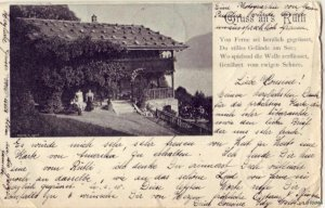 GRUSS AN S RUFLI VON FERNE GELANDE SWITZERLAND 1903