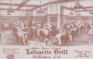South Carolina Walterboro Arthur Bauers Original Lafayette Grill