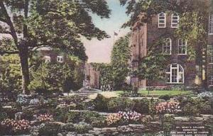Michigan Orchard Lake St Marys College Dormitory and South End of Campus Hand...
