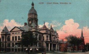 Waterloo, Iowa, IA, Court House, 1915 Antique Vintage Postcard g8303