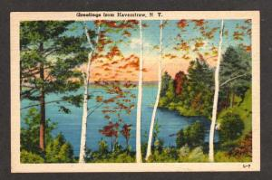 NY Greetings from HAVERSTRAW NEW YORK Postcard Linen PC