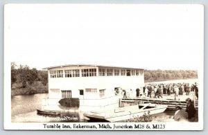 Laketon-Paradise MI Tahquamenon Riverboat~By* Eckerman MI~Tumble Inn~1930s RPPC