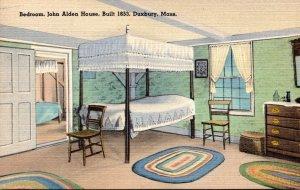 Massachusetts Duxbury John Alden House Built 1653 The Bedroom