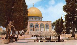 Israel Old Vintage Antique Post Card Jordan, Jerusalem Dome of the Rock Writi...