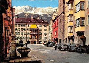 Innsbruck Herzog Friedrich Street with the Golden Roof Fountain Auto Cars