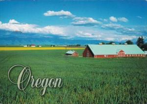 Oregon Typical Barn and Canola Fields 2006