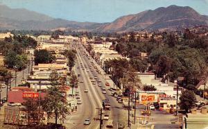 Studio City California~US Highway 101~Ventura Blvd~Shell Gas Station~1950s Cars