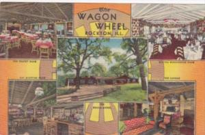 Illinois Rockton The Wagon Wheel Restaurant 1959 Curteich