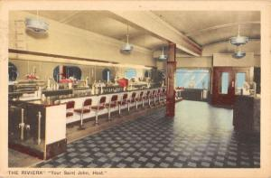 Saint John New Brunswick Canada Riviera Interior Antique Postcard K37976
