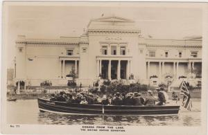 RP, People On A Boat, The British Empire Exhibition, Canada From The Lake, 1924