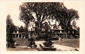 LPS96 New London New Hampshire Twin Lake Villa Postcard RPPC