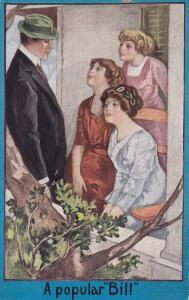 A popular Bill, Women swooning over handsome man, PU-1911