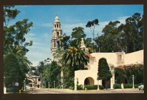 San Diego, California/CA Postcard, Plaza De Panama & California Tower