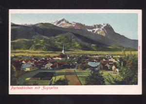 PARIENKIRCHEN MIT ZUGSPITZE GERMANY GERMAN ANTIQUE VINTAGE POSTCARD