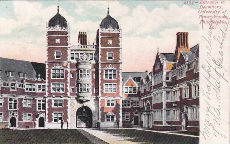 Entrance to Dormitory, University of Pennsylvania,  Philadelphia,  Pennsylvan...