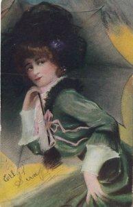 Woman in green , 1907
